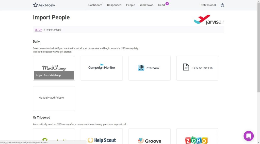 Import contacts into AskNicely