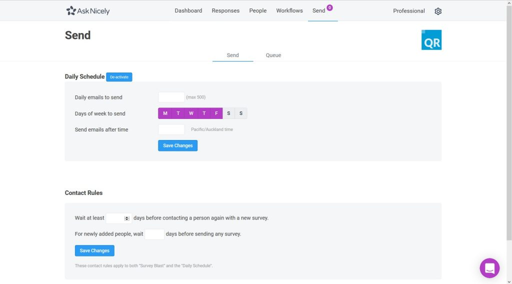 Send NPS surveys from AskNicely