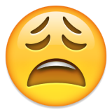Image result for weary face emoji png