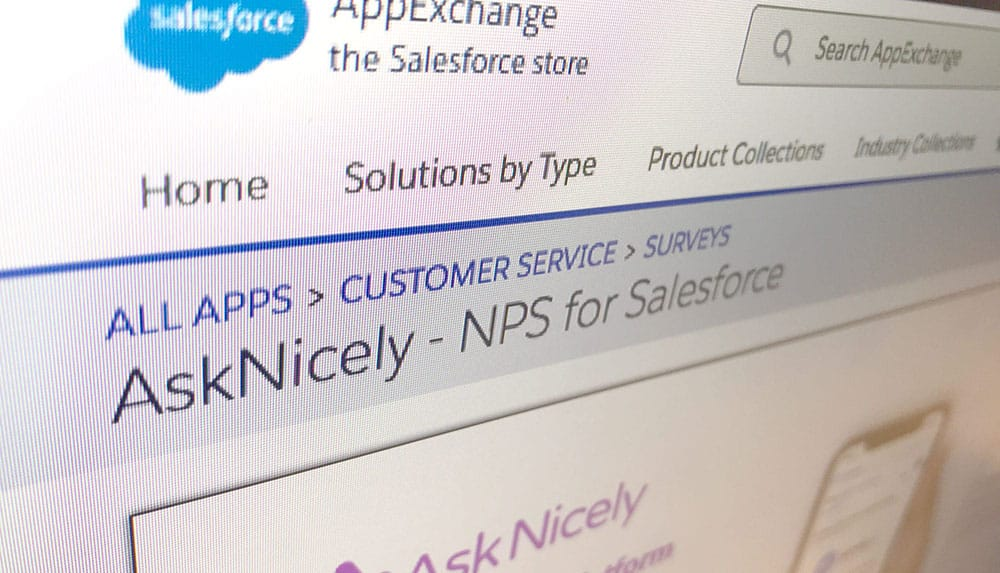 AskNicely NPS Software Now Available on the Salesforce AppExchange