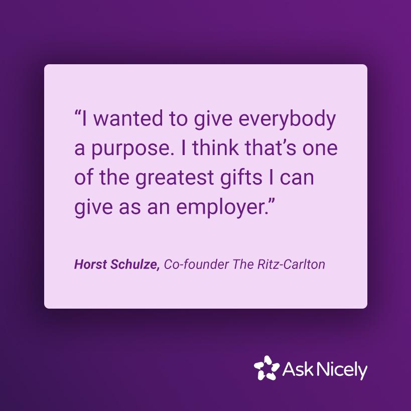 Employee engagement strategies: purpose