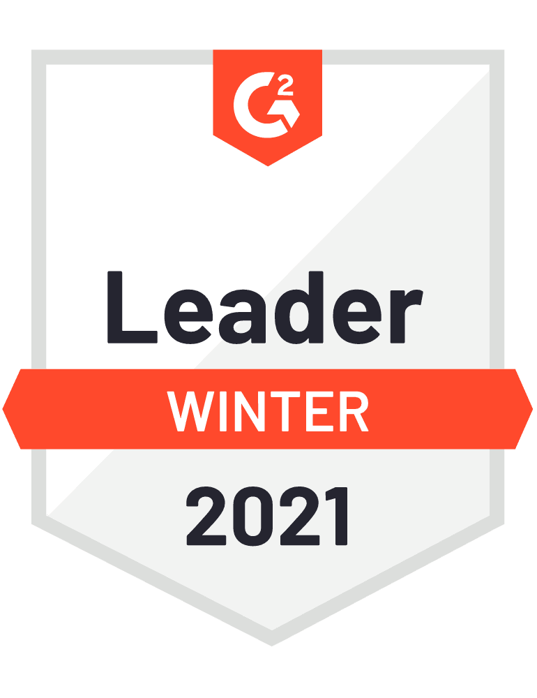 G2 Badge Leader 2021 Winter Experience Management