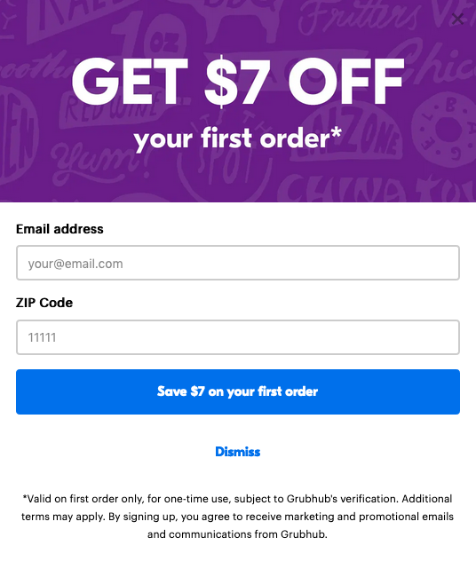 Subscribe and save example - Grubhub