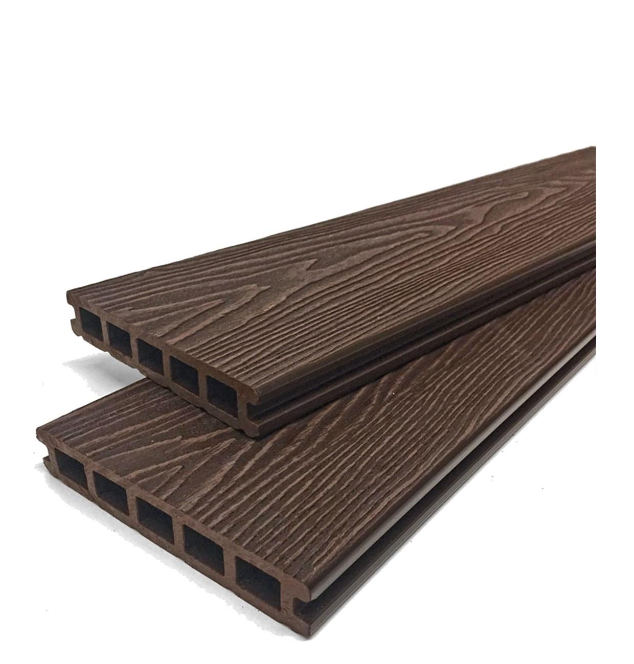 Mahogany Woodgrain Composite Decking Boards