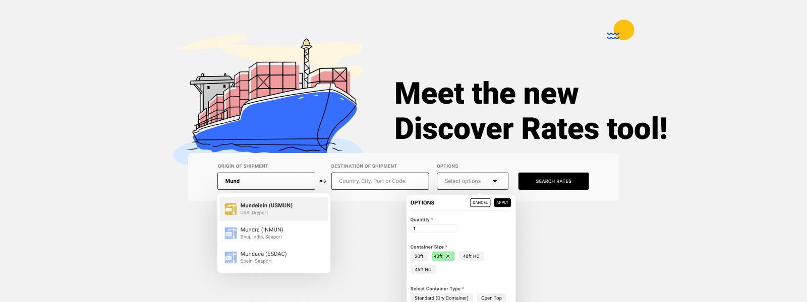 Get Instant Freight Quotes Online with Cogoport's Discover Rates Tool