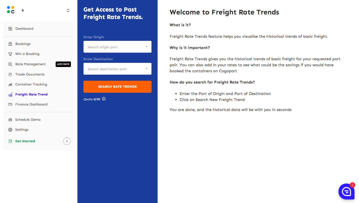 Cogoport freight rate trends