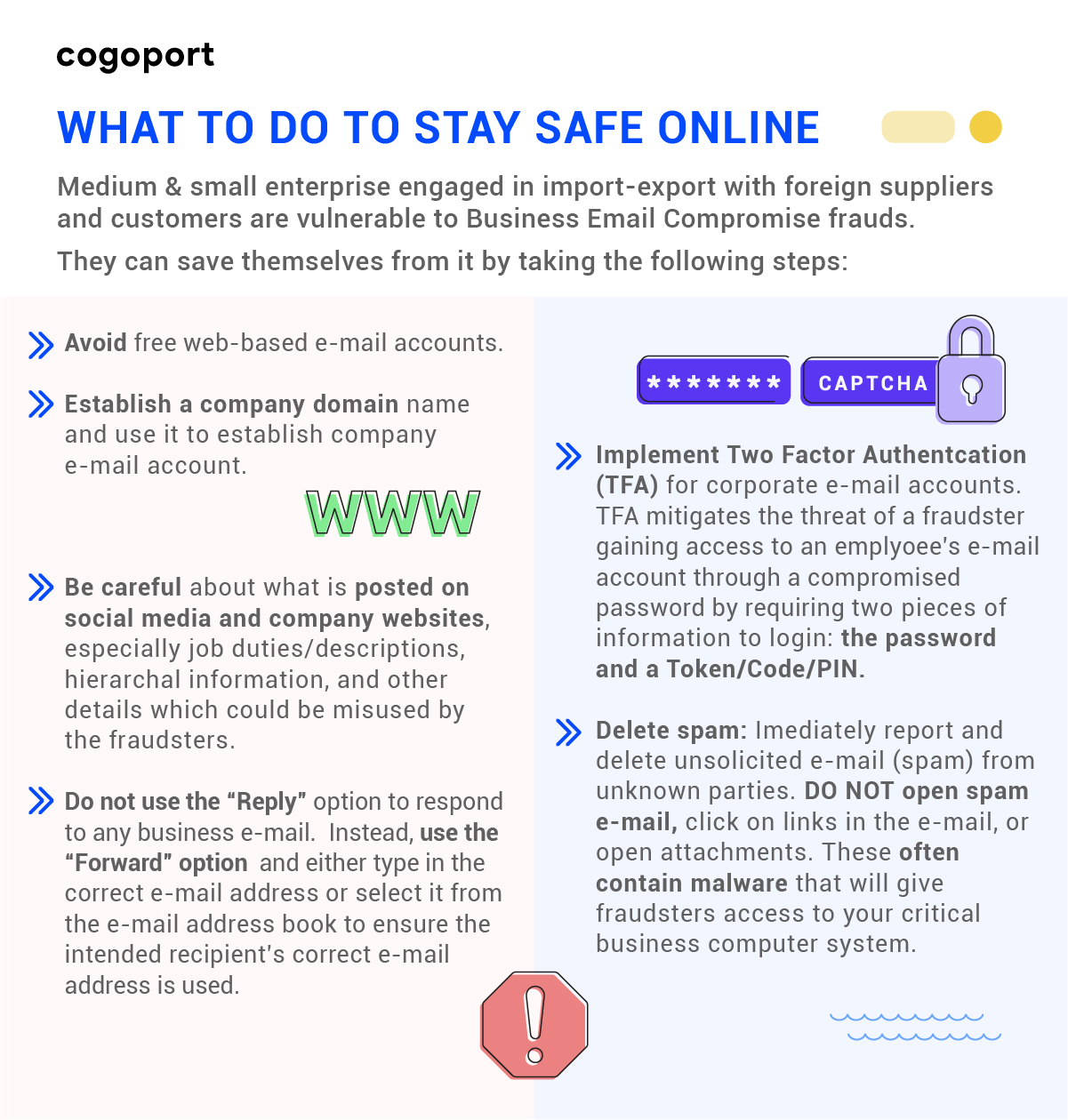 Stay safe from Cyber scam in export import