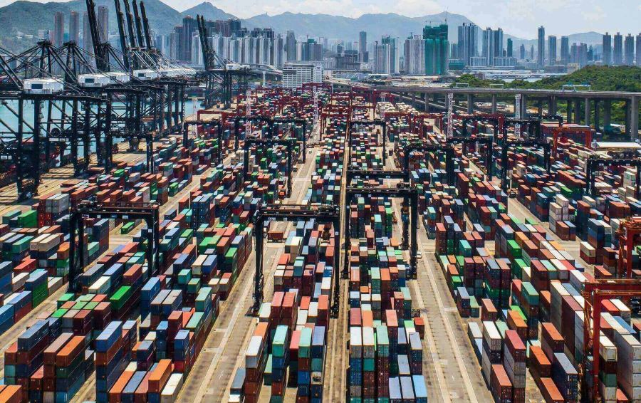 China's ports play an important role in global trade