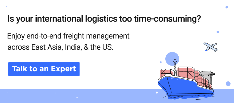 End to end international logistics across East Asia, India, and the US with Cogoport