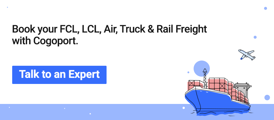 Book FCL, LCL, Air, Truck & Rail Freight with Cogoport