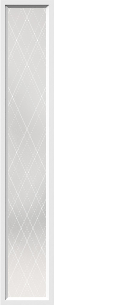 "Novatech Arum Contemporary Doorlite Glass 13-7/8"" x 79"""
