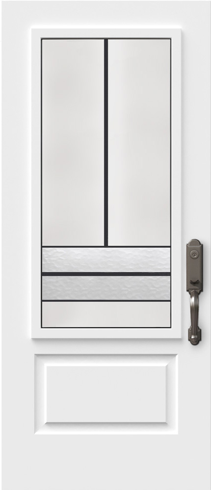 "Novatech Avenue Contemporary Doorlite Glass 22"" x 48"""