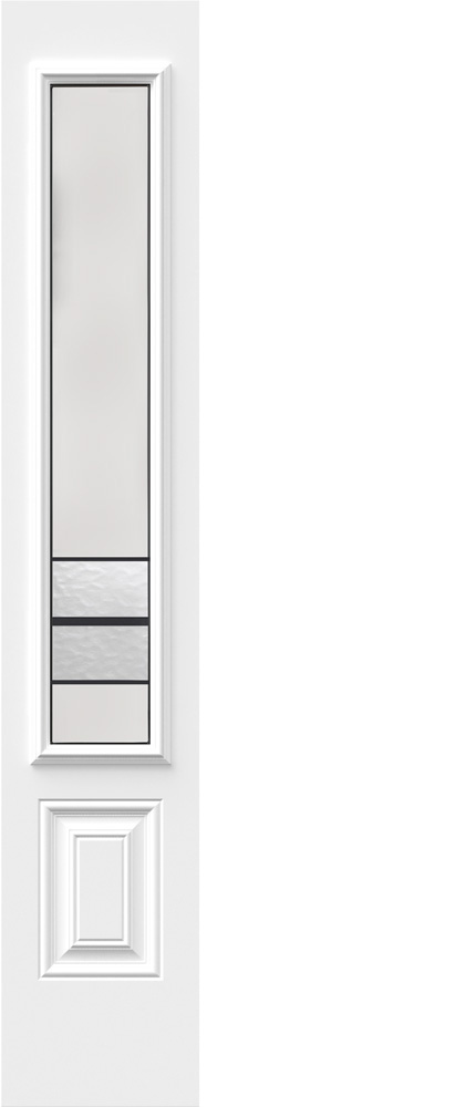 "Novatech Avenue Contemporary Doorlite Glass 8"" x 48"""