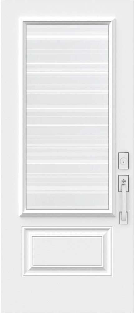 "Novatech Azur Contemporary Doorlite Glass 22"" x 48"""