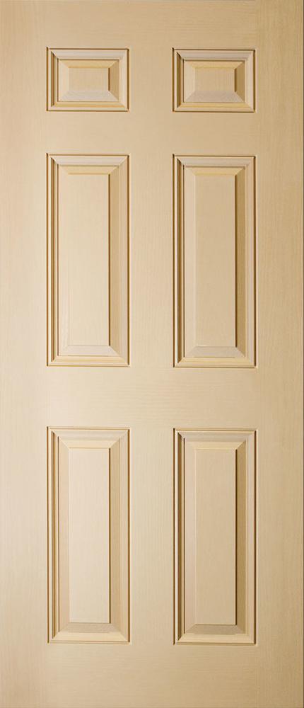 "6'8"" Fiberglass 6 Panel Oak Textured (WG68)"