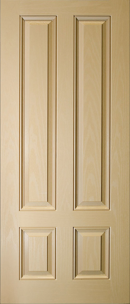 "6'8"" Fiberglass 3/4 Lite 4 Panel Oak Textured (WG49)"