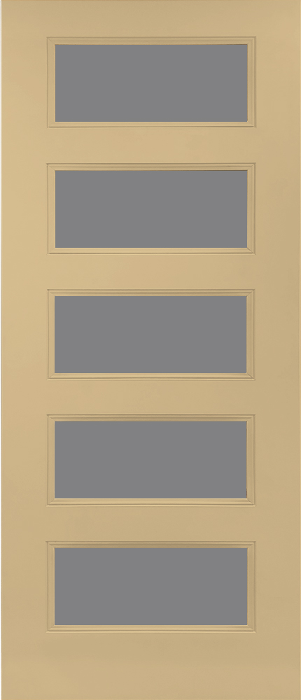 "6'8"" Fiberglass 5 Lite Open&Beaded Oak Textured (WG5L)"