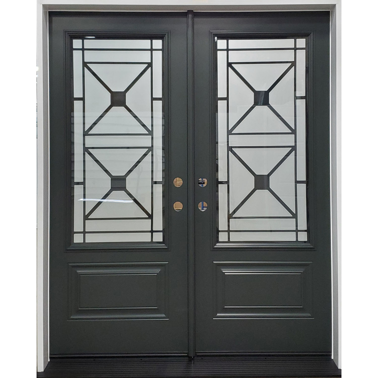 Double door with Wrought Iron Excalibur