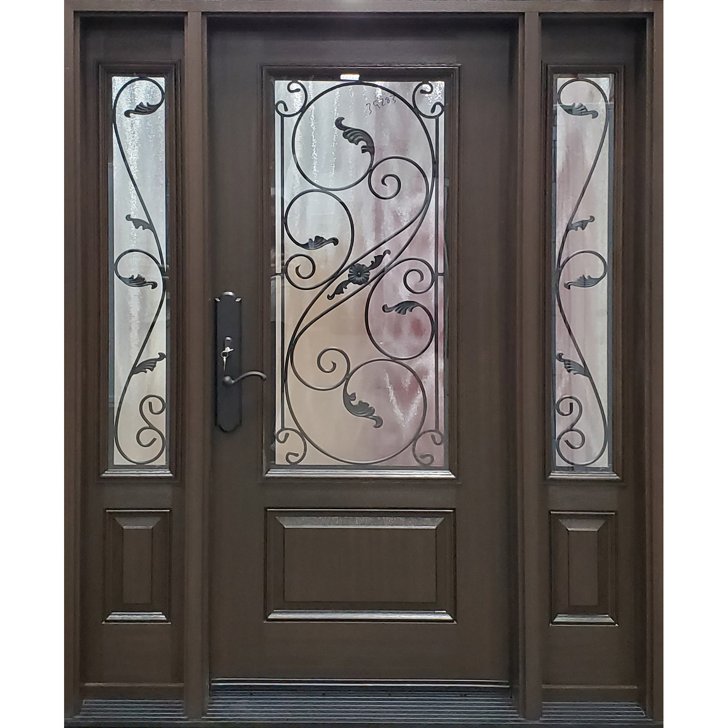 3/4 Serafina Wrought Iron with matching 3/4 sidelites