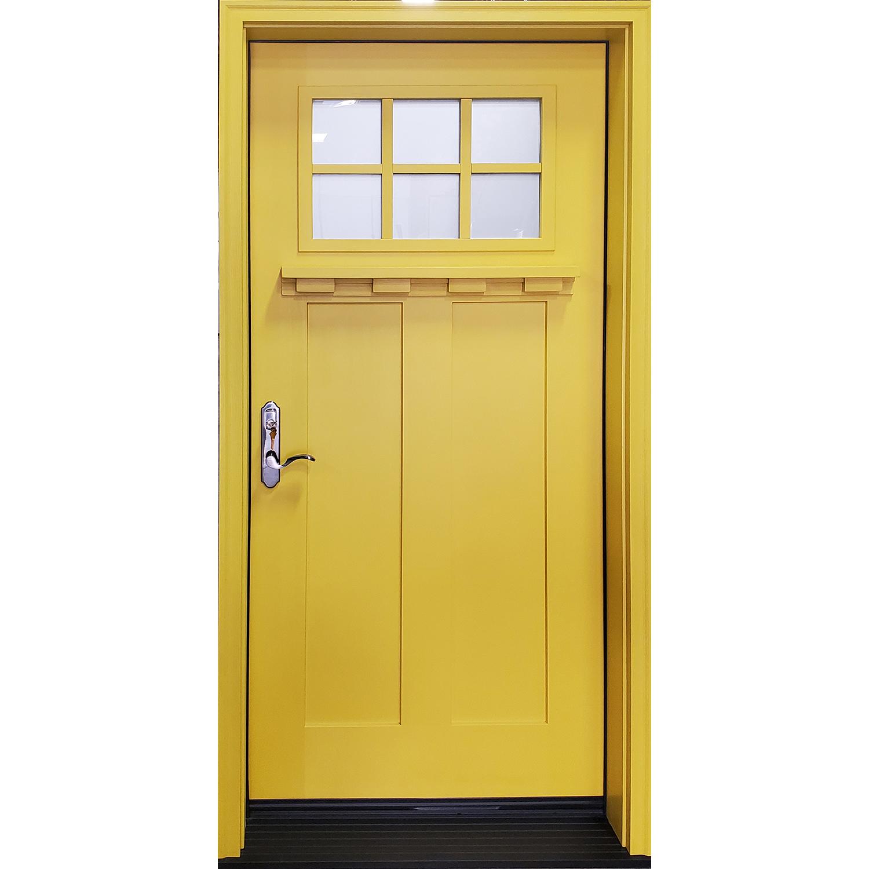 Canary Yellow Fiberglass Fir Grain Craftsman, 3x2 SDLs