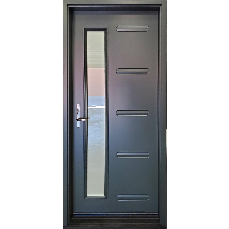 Linea Door with Narrow Sandblasted Glass