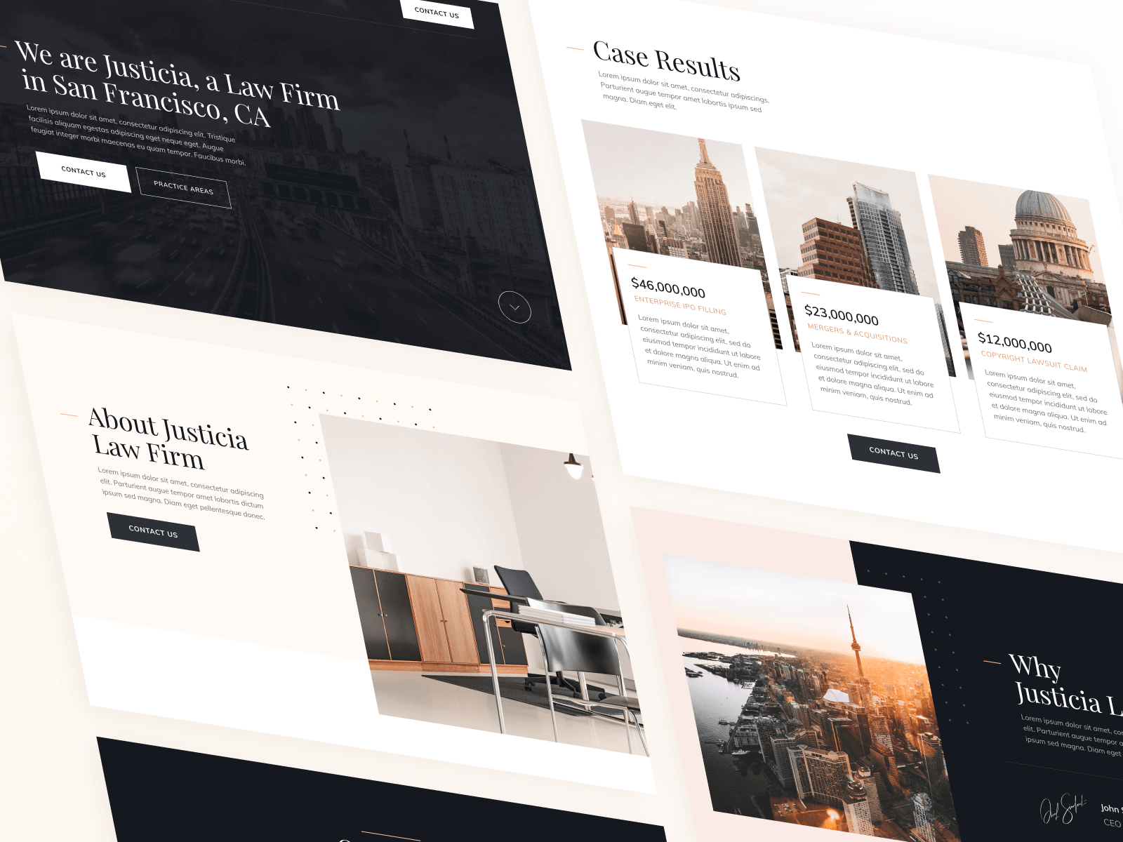 Justicia Law Webflow Template