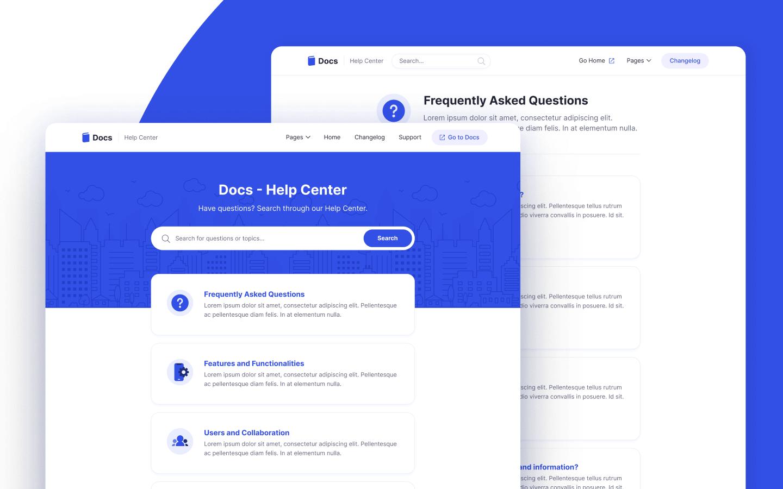 Docs Help Center Webflow Theme