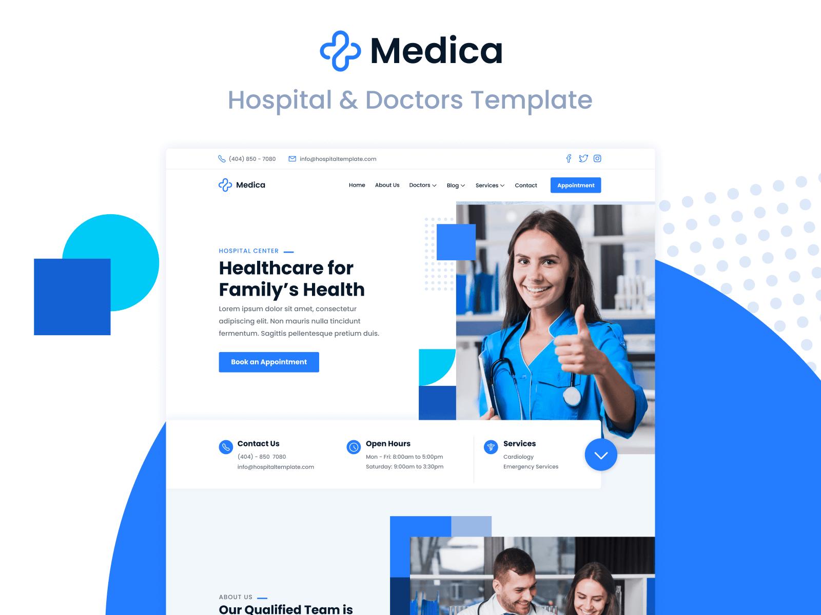 Hospital & Doctors Webflow Template