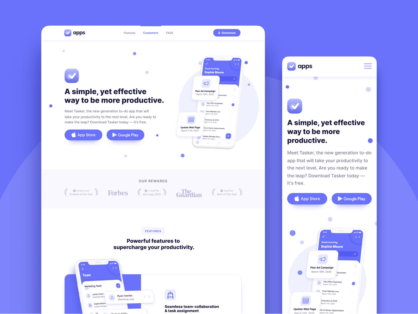 Mobile App Webflow Theme