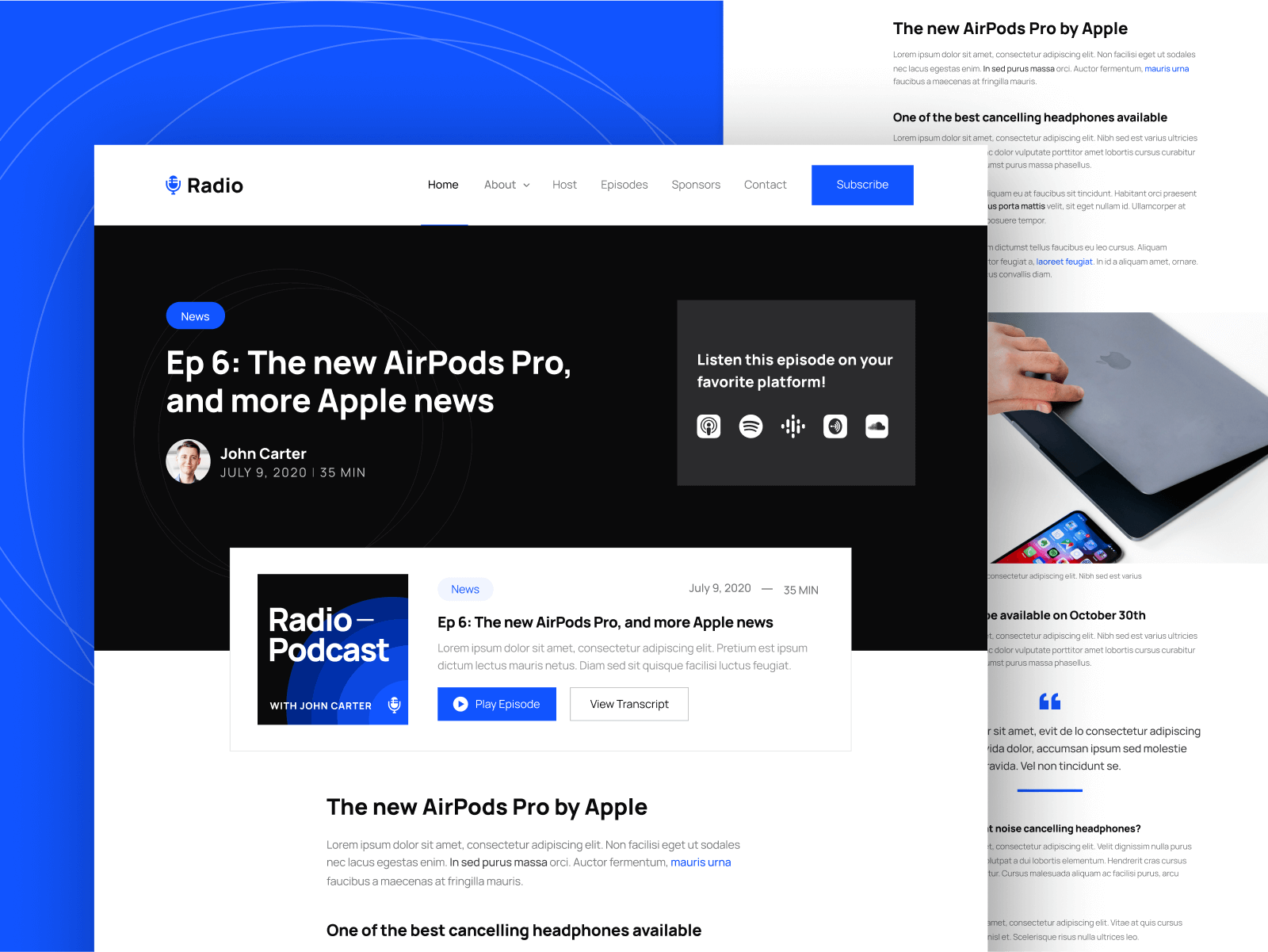 Webflow Template Podcast
