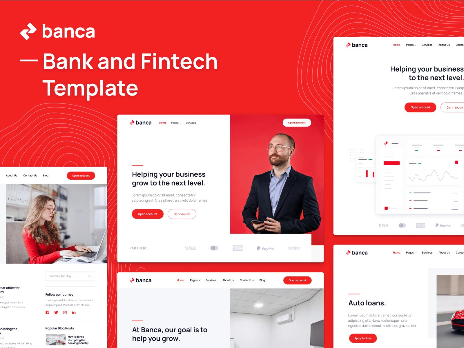 Bank Webflow Template