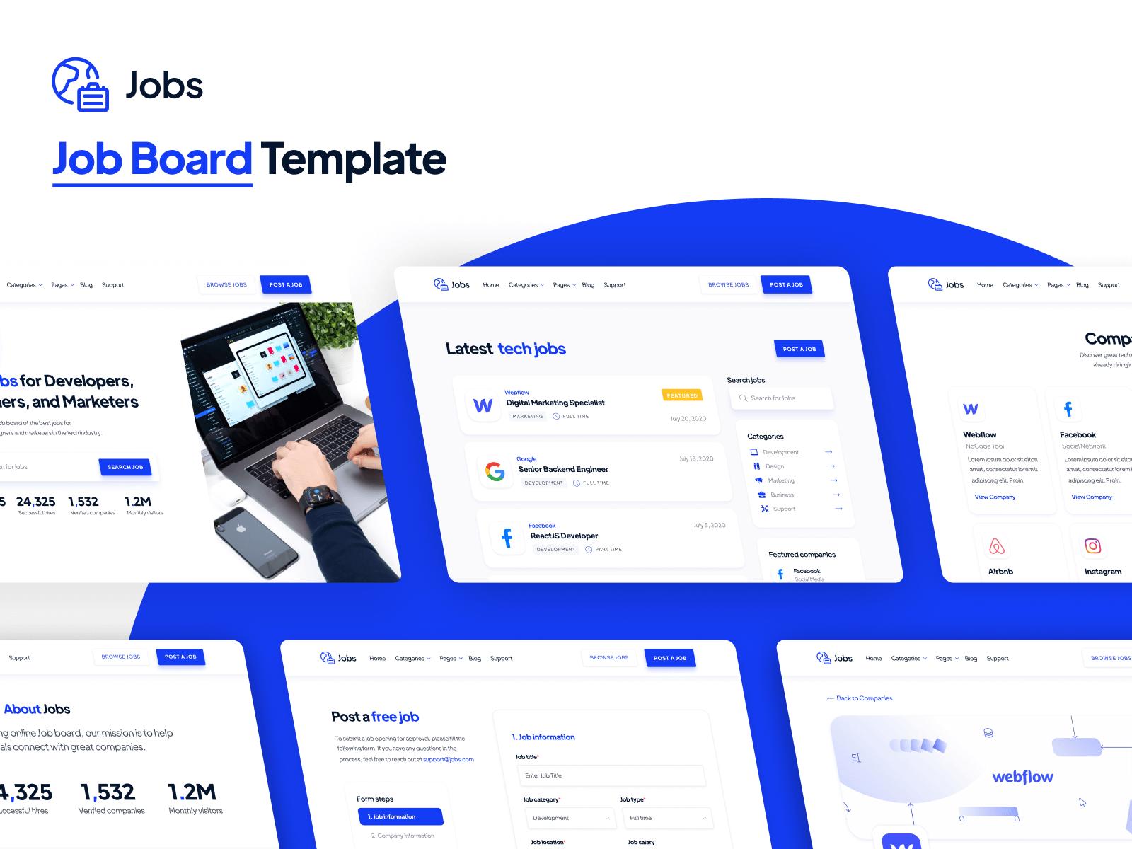 Job Board Webflow Template