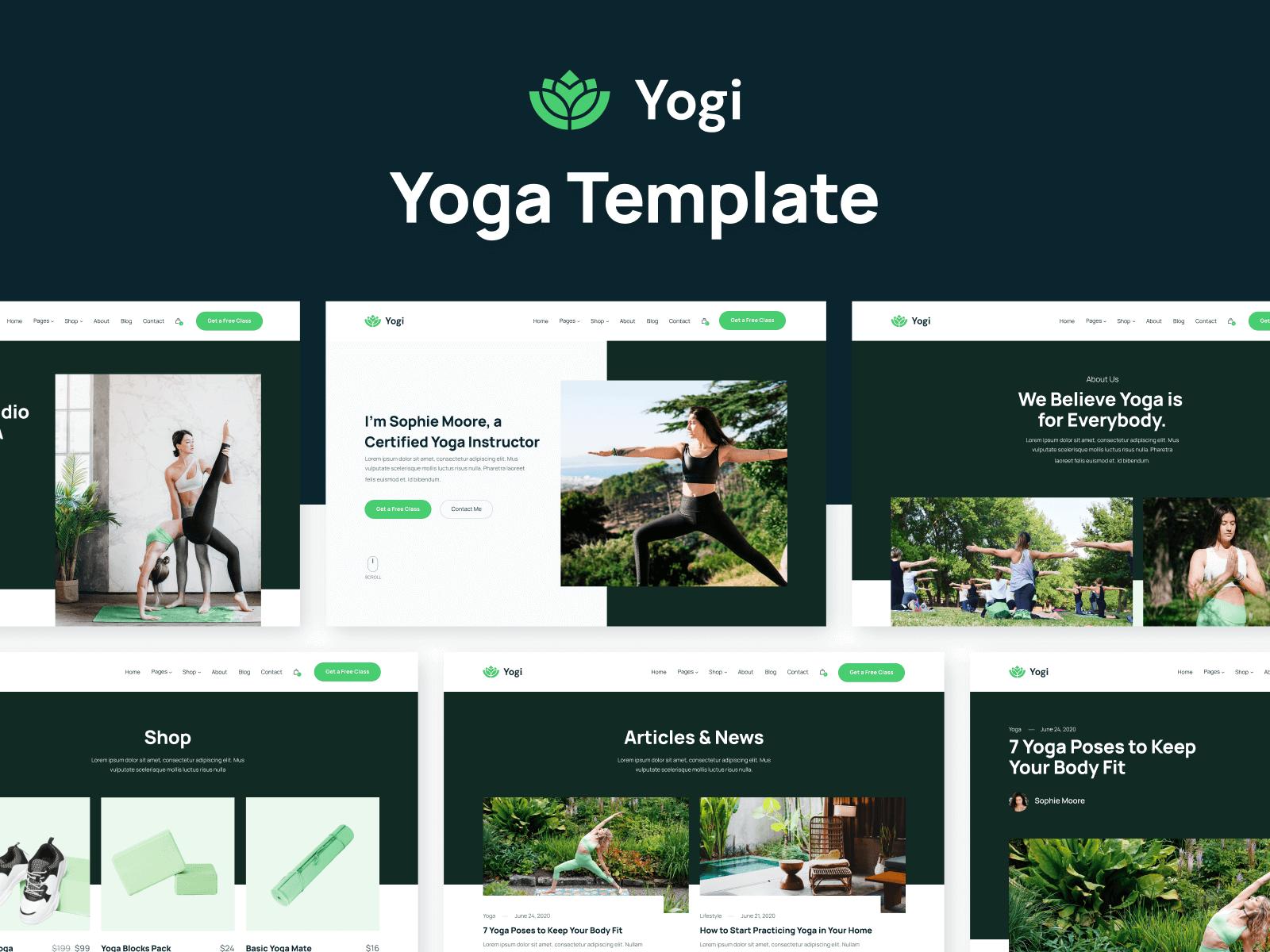 Yoga Teacher Webflow Template