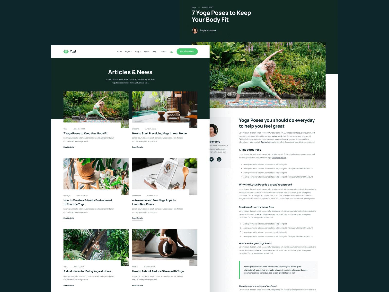 Yoga Studio Webflow Template