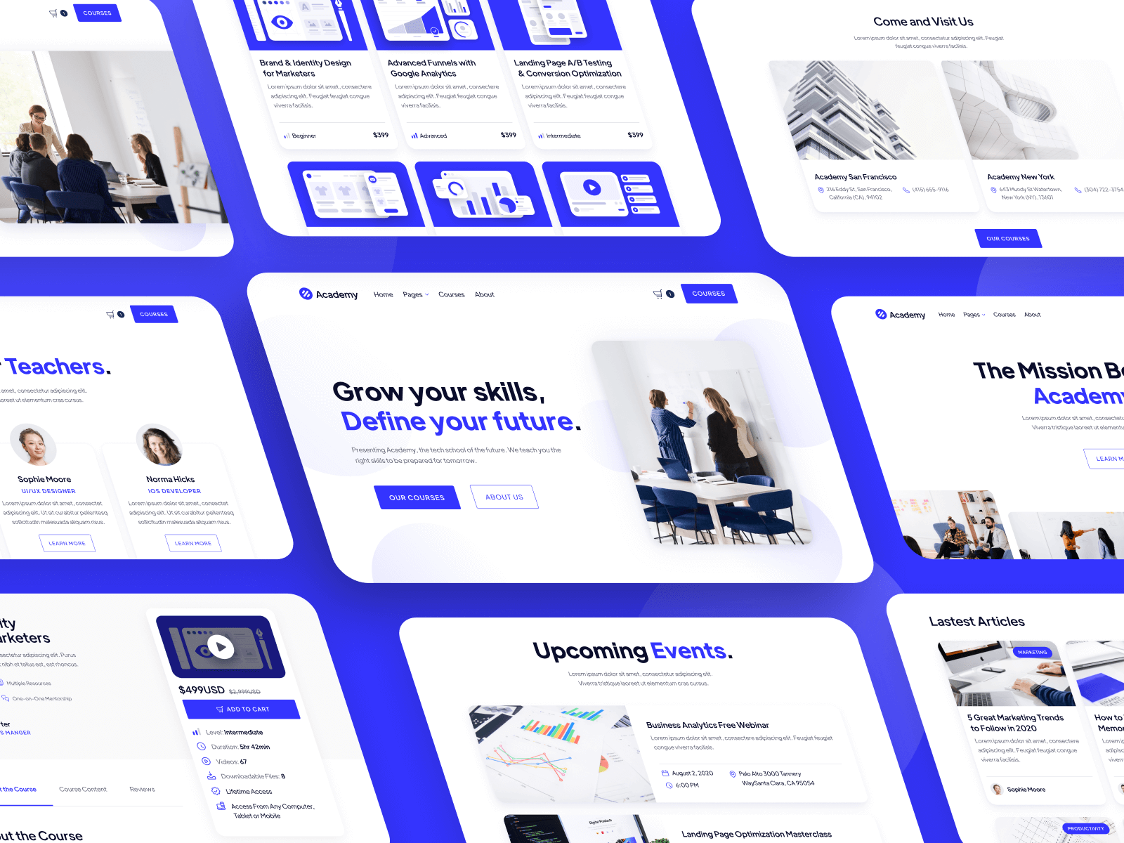 Academy Online Courses Webflow Template