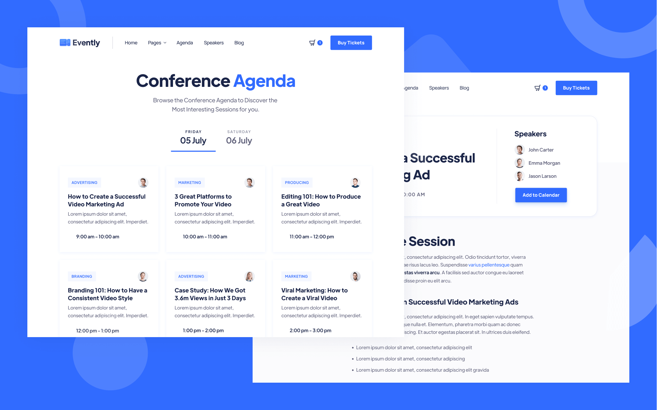 Online Conference Webflow Template