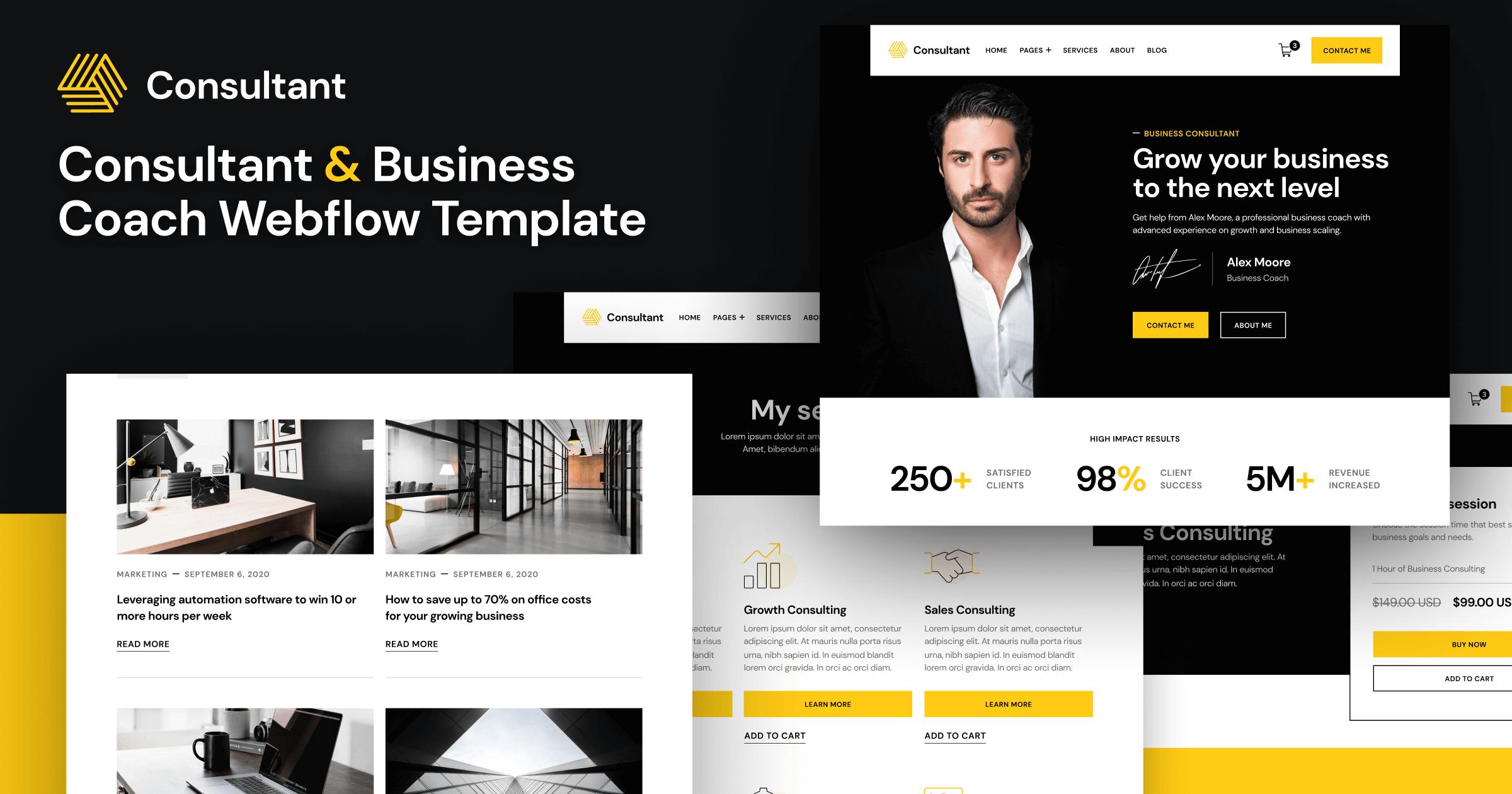 Business Coach Webflow Template