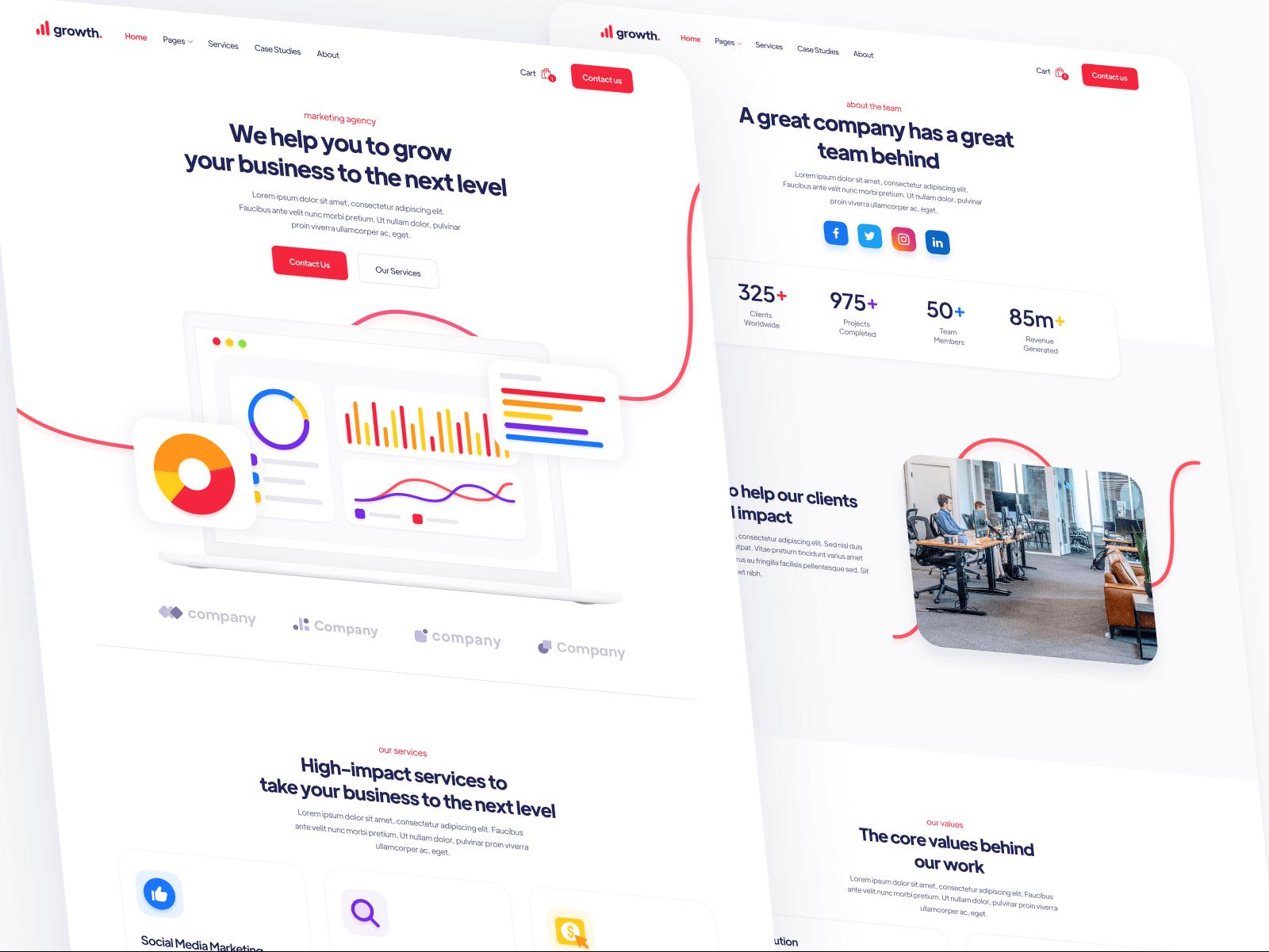 Marketing Agency Webflow Website Template
