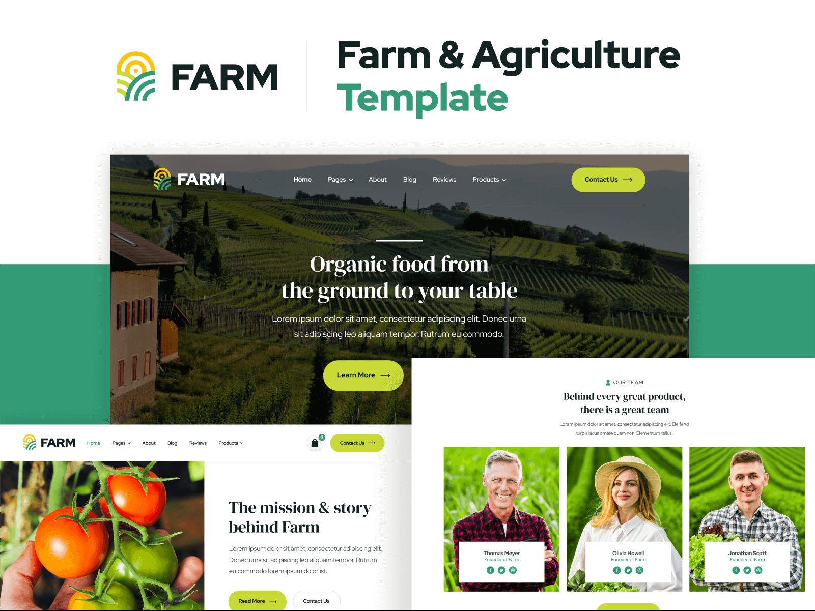 Farm Agriculture Webflow Template