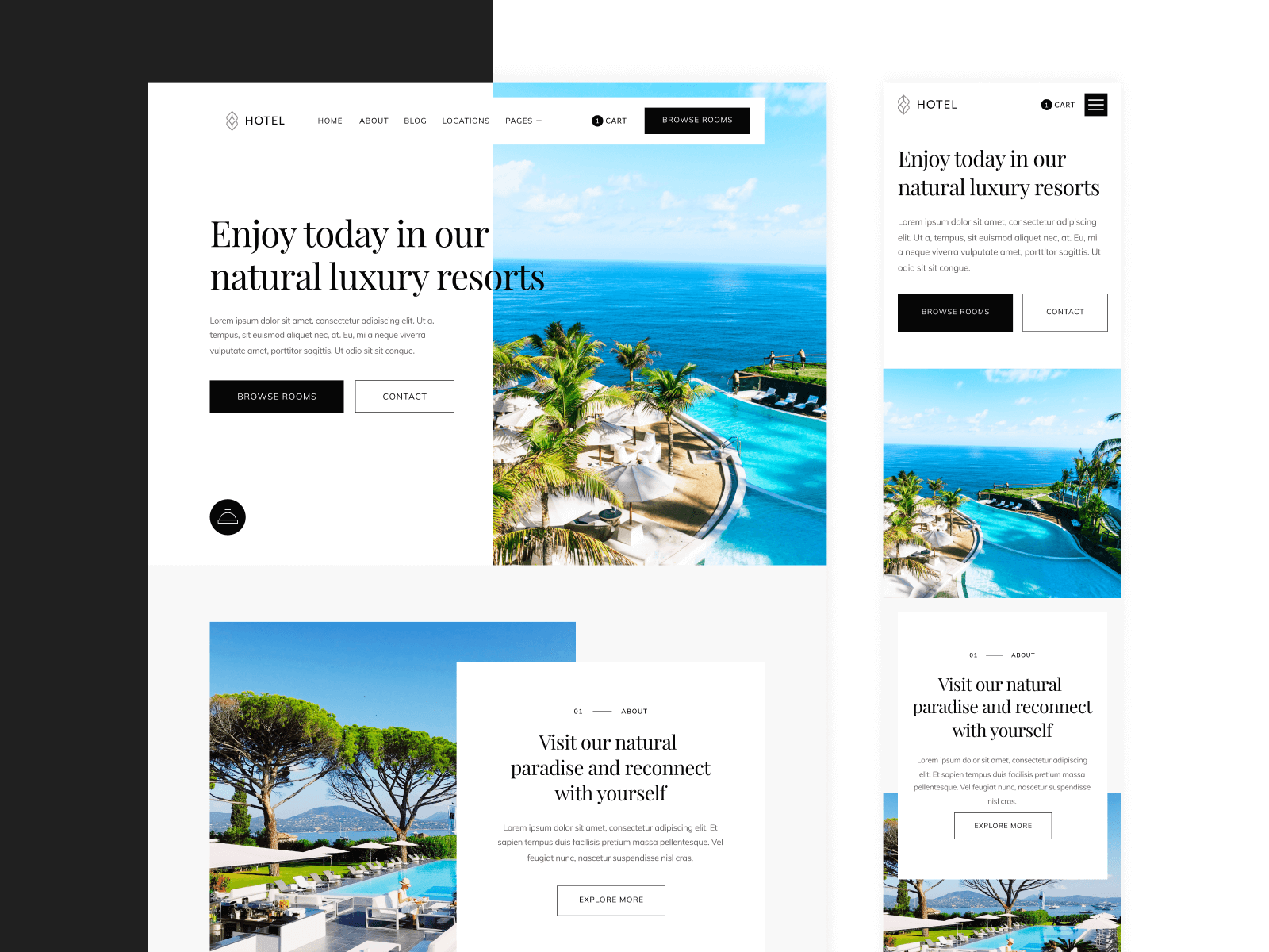 Hotel Resort Center Webflow Template