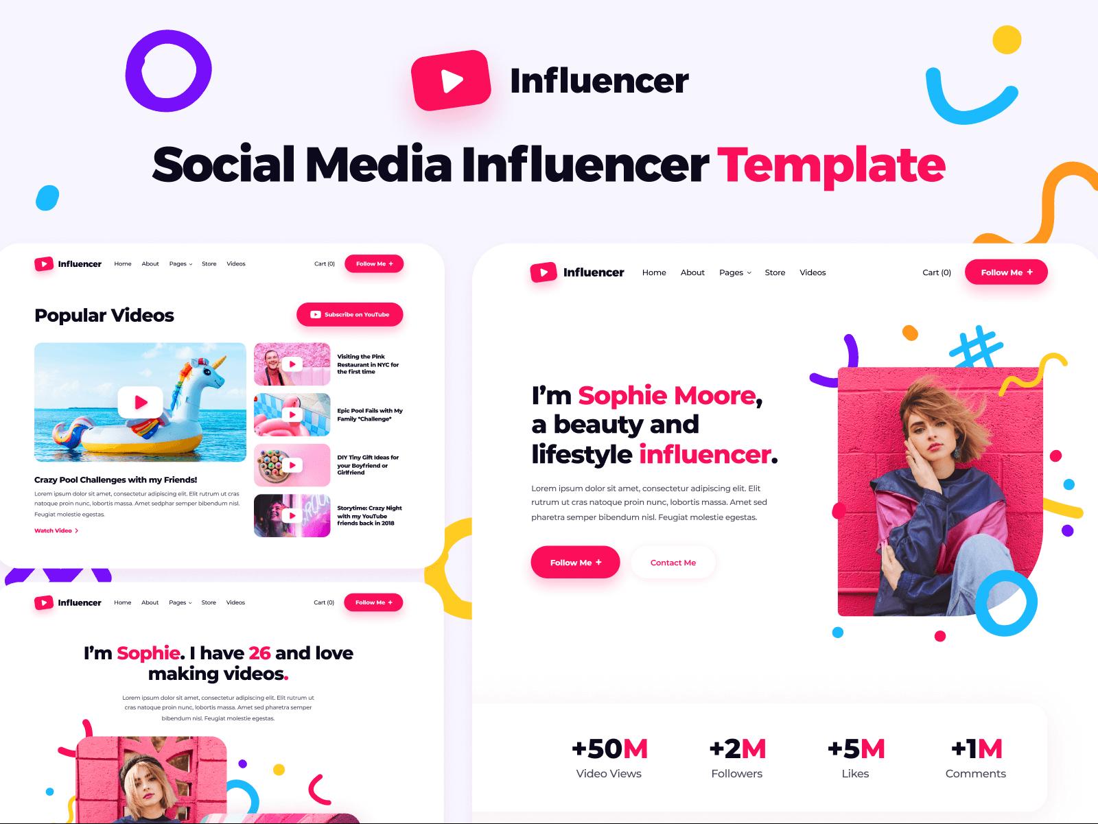 Influencer Webflow Template