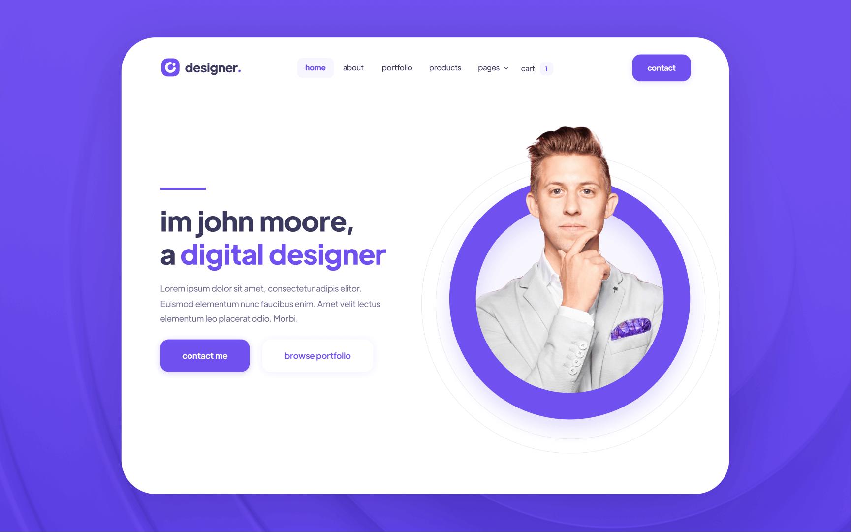 Designer Portfolio Webflow Template