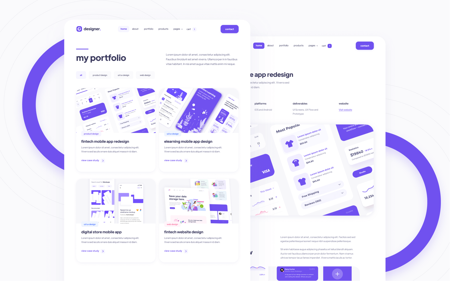 Premium Design Portfolio Webflow Template