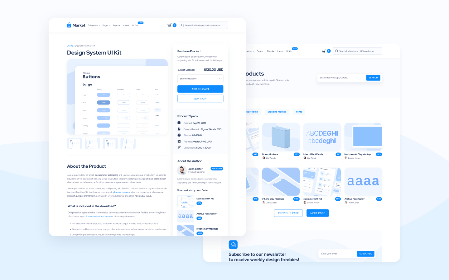 Design Marketplace Webflow Template and UI Kit