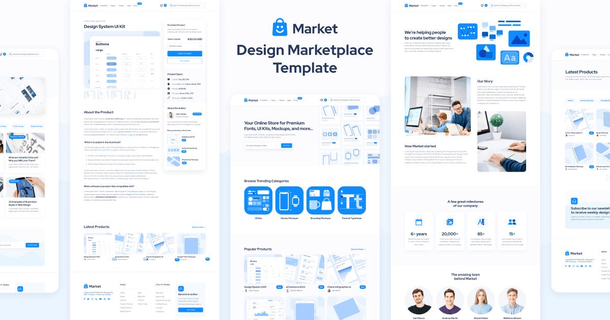 Design Marketplace Webflow Template