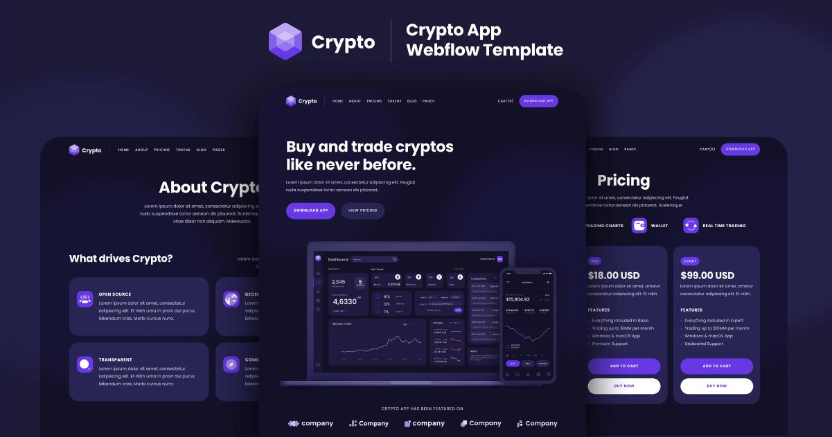 Crypto Webflow Template