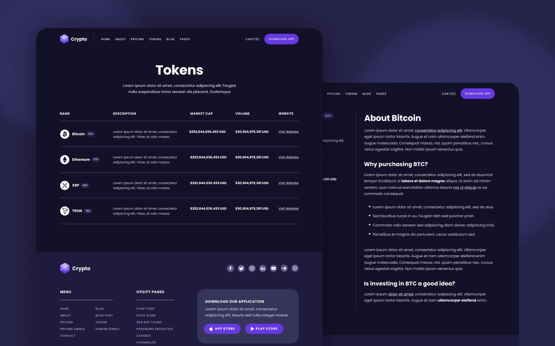 Blockchain Webflow Template