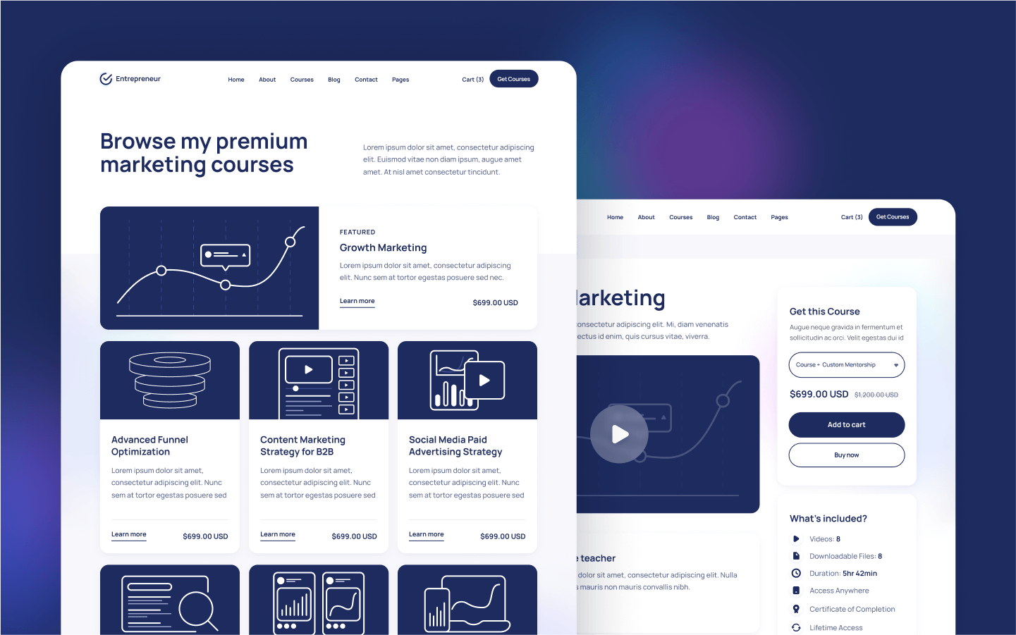 Courses Webflow Template