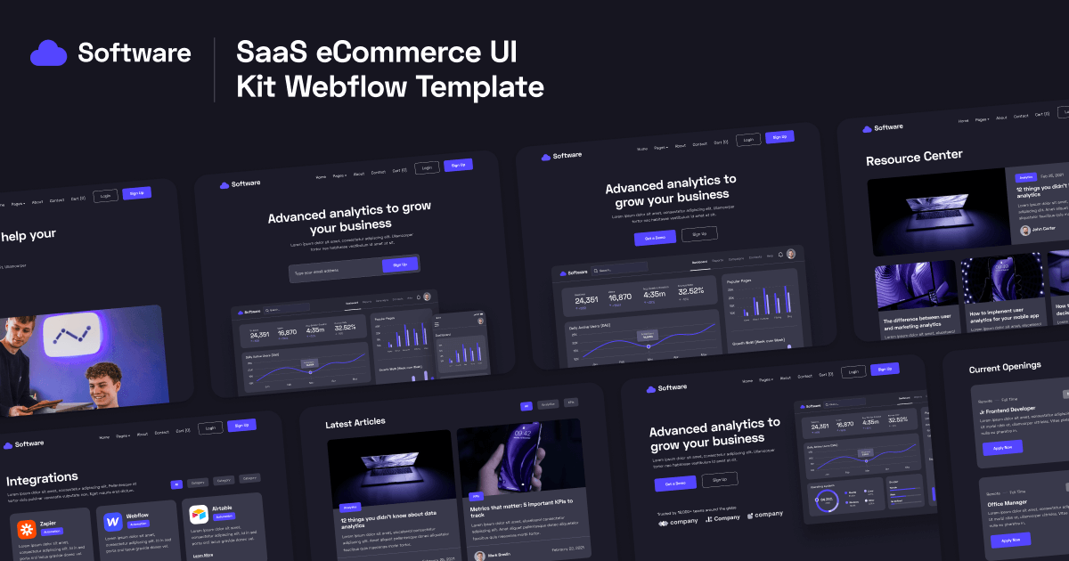 Software Webflow Template and UI Kit
