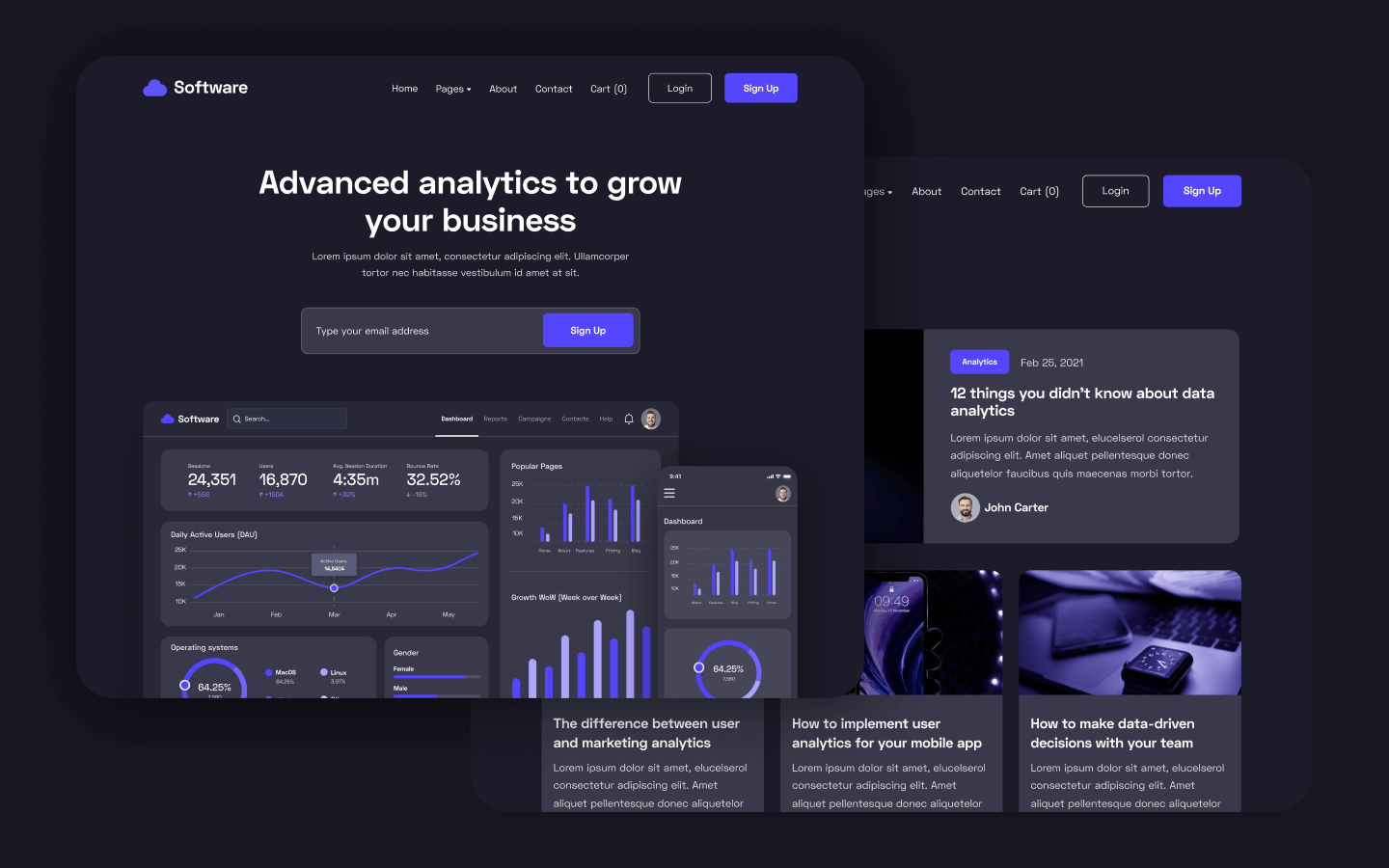 Software Startup Webflow Template and UI Kit